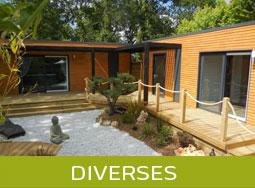 Diverses réalisations de chalets bois moderne HLL- Logis de Montaigu
