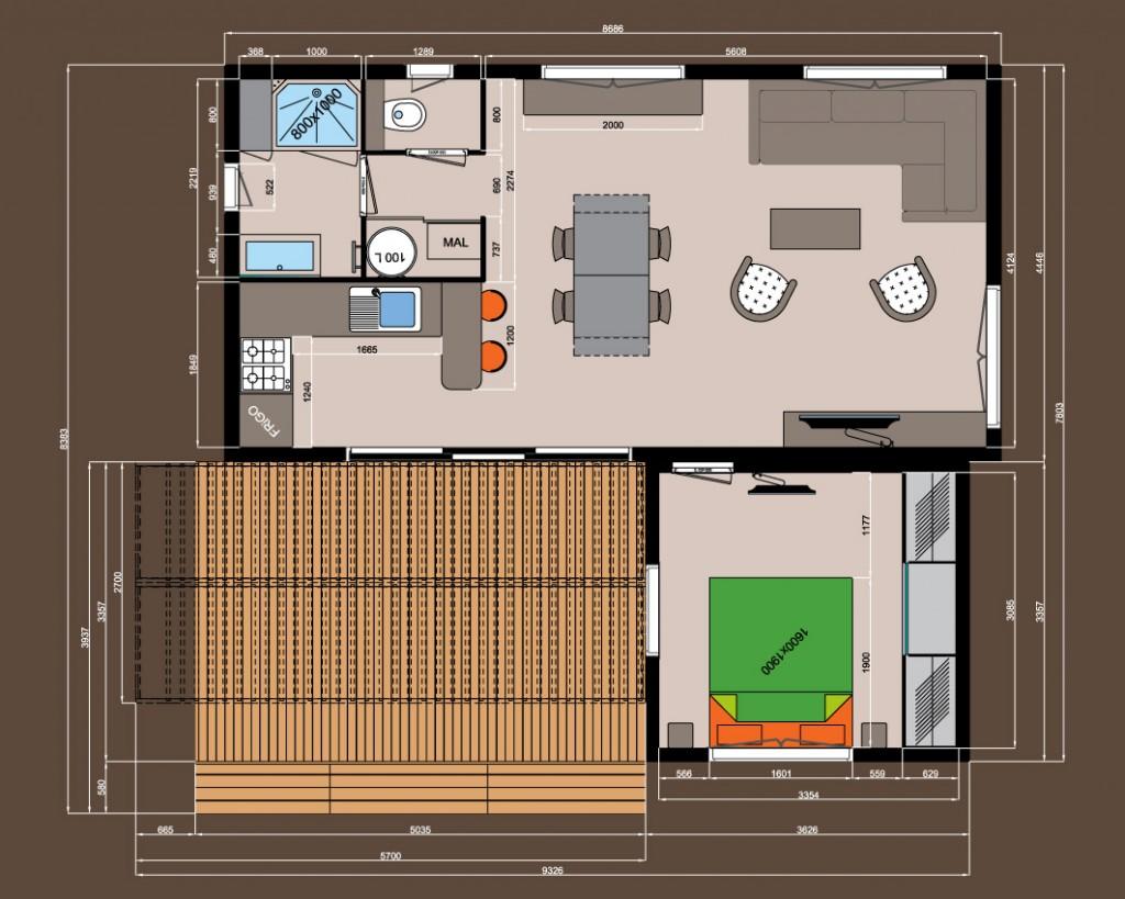 1 chambre avec dressing