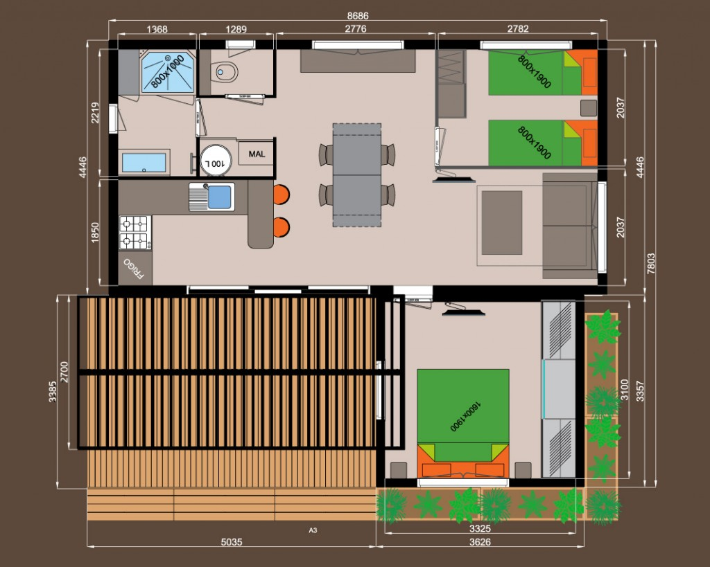 2 chambres avec dressing