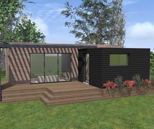 Chalet en bois Kubio 50 m²