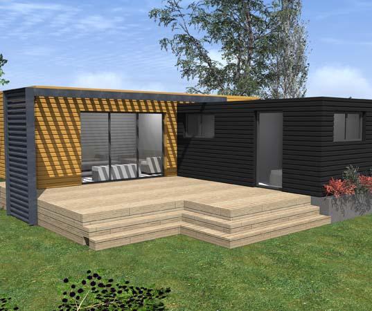 Chalet en bois Kubio 50 m2
