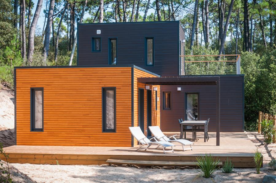 chalet kubio 100m2 logis de montaigu. Black Bedroom Furniture Sets. Home Design Ideas