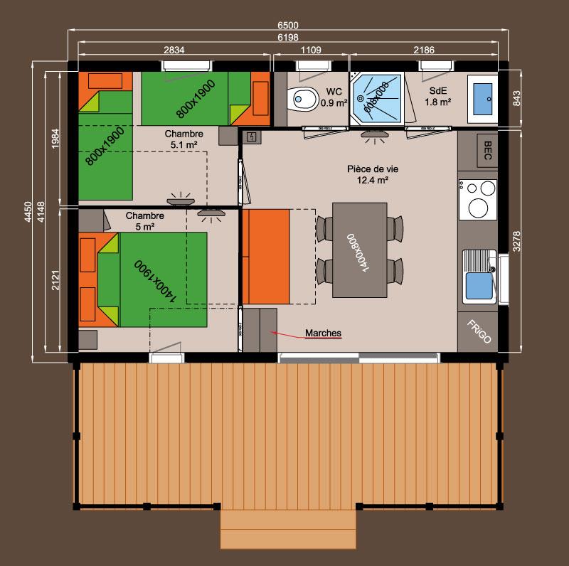chalet bois Nexo 29 m²
