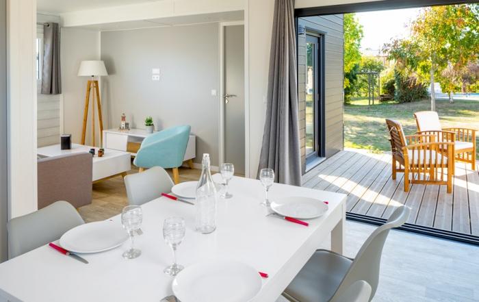 chalet bois moderne 50m² - 2 chambres - pièce de vie