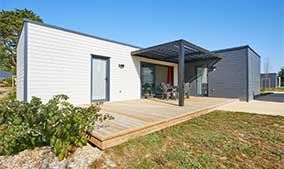 Chalet en bois moderne toit plat- Gamme Kubio