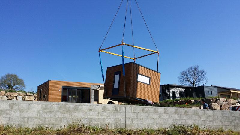 Installation chalet KUBIO 50m²