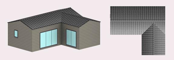 3D chalet en bois habitable livré monté 50m²